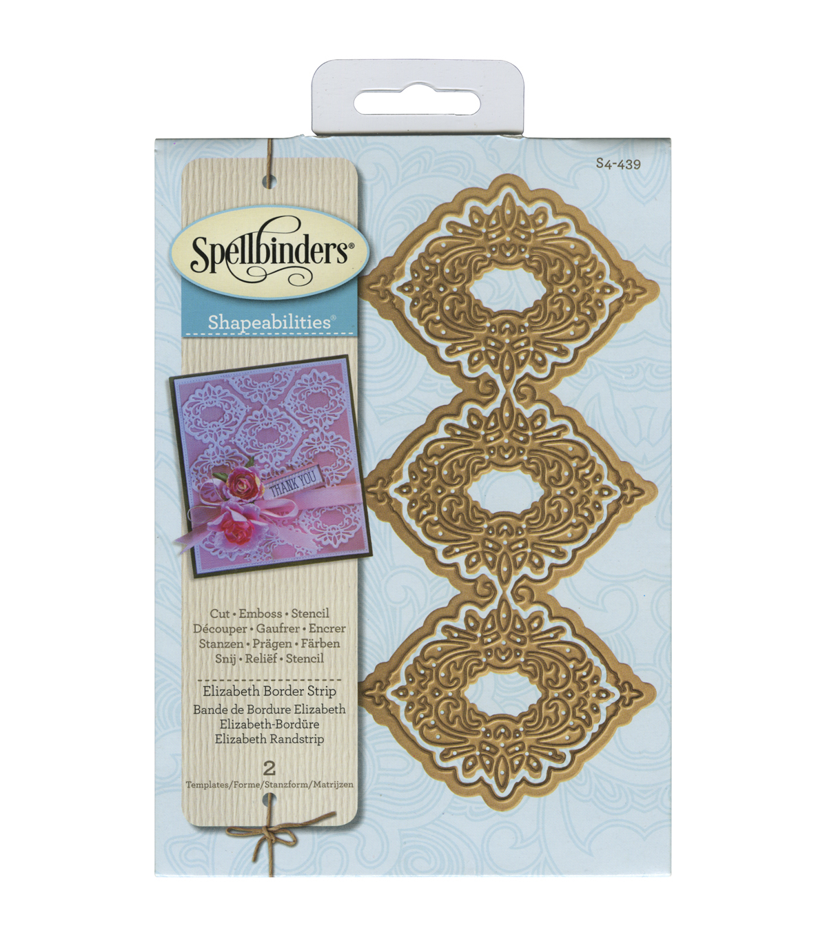 Spellbinders Shapeabilities Elizabeth Border Strip Dies