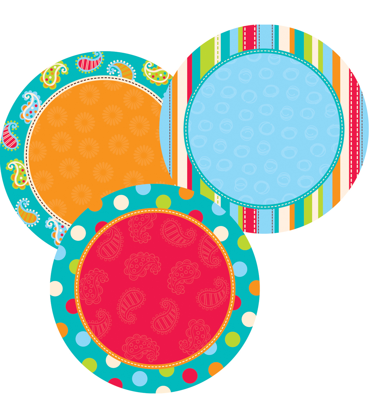Dots-On-Turquoise Collection: 6 Inch Dots Designer Cut-Outs