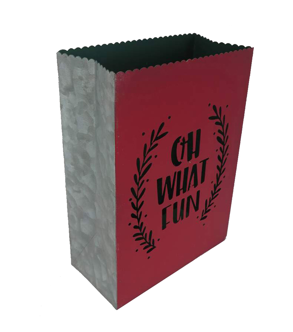 Maker\u0027s Holiday Christmas Galvanized Bag-Oh What Fun