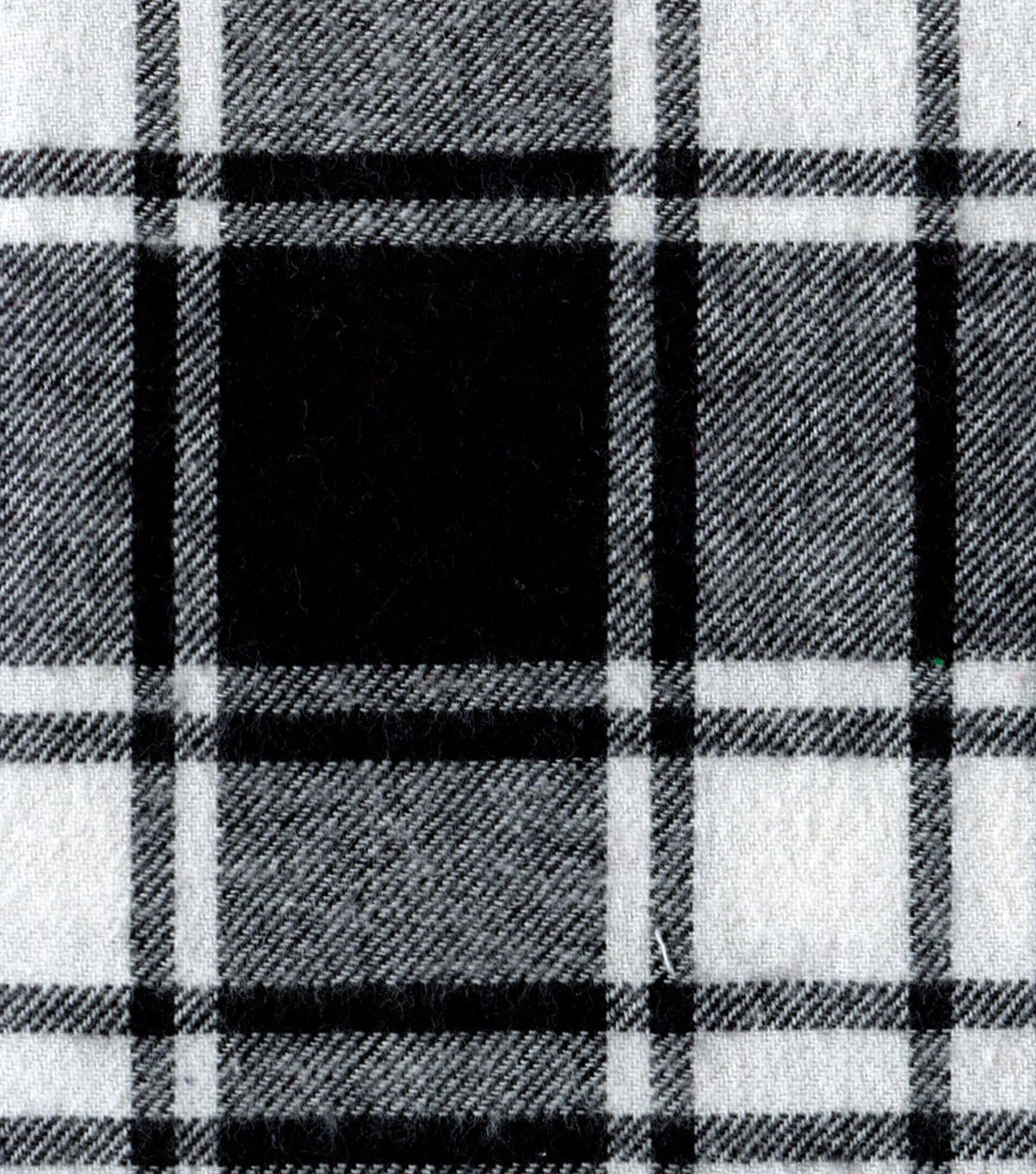 "Flannel Shirting Fabric 41""-Large Black White"