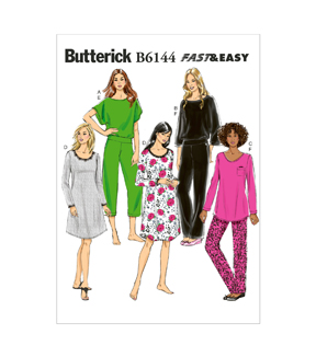 Butterick Misses Sleep & Lounge-B6144