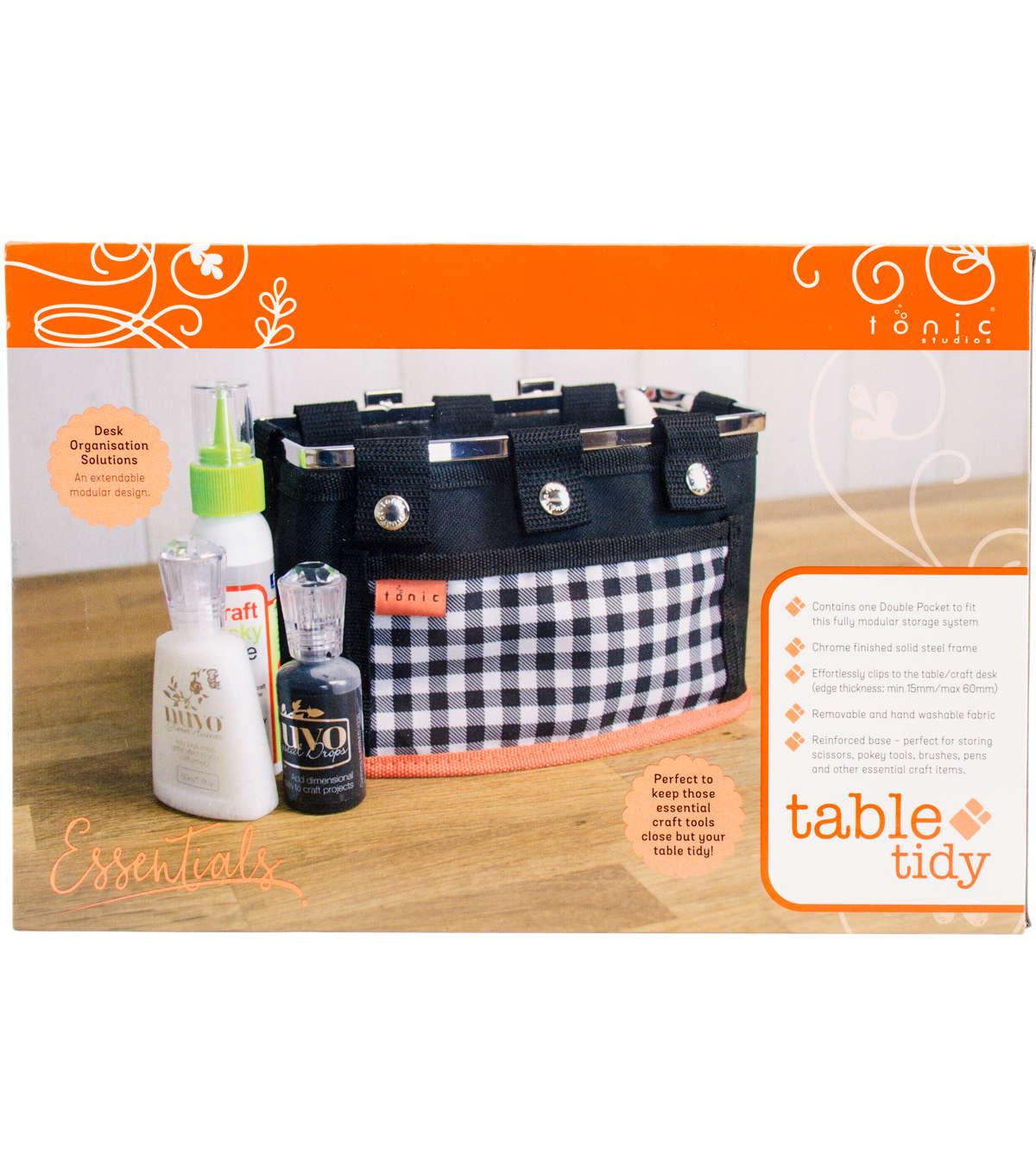 Tonic Studios Table Tidy Double Pocket-Navy