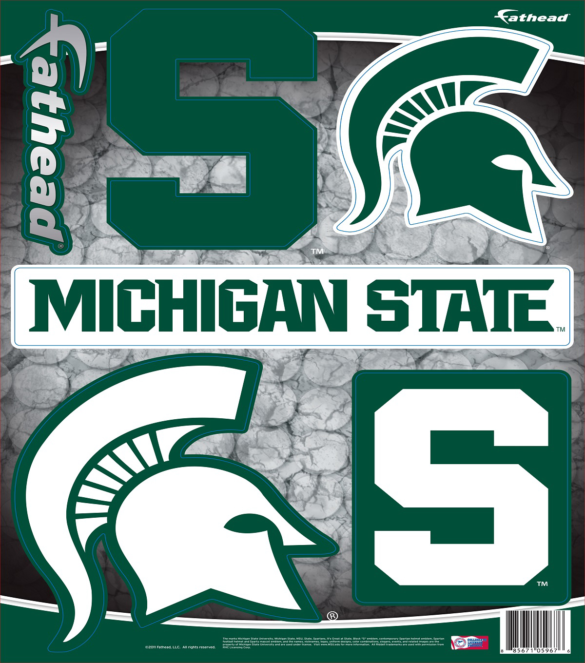 Michigan State University Spartans Fat Head Wall Decal-Assorted Logos