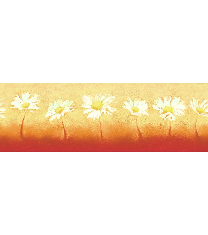 Art Daisy Wallpaper Border, Orange | JOANN