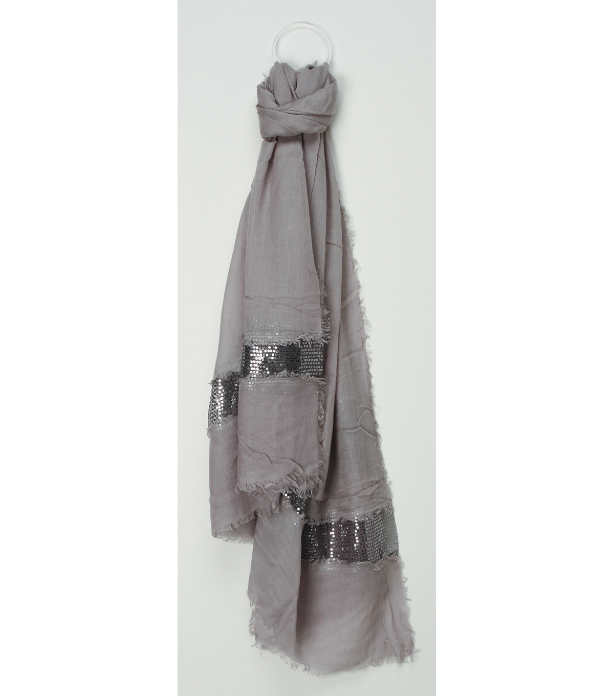 Oxford Street Jewelry Co. Gray Sequin Scarf