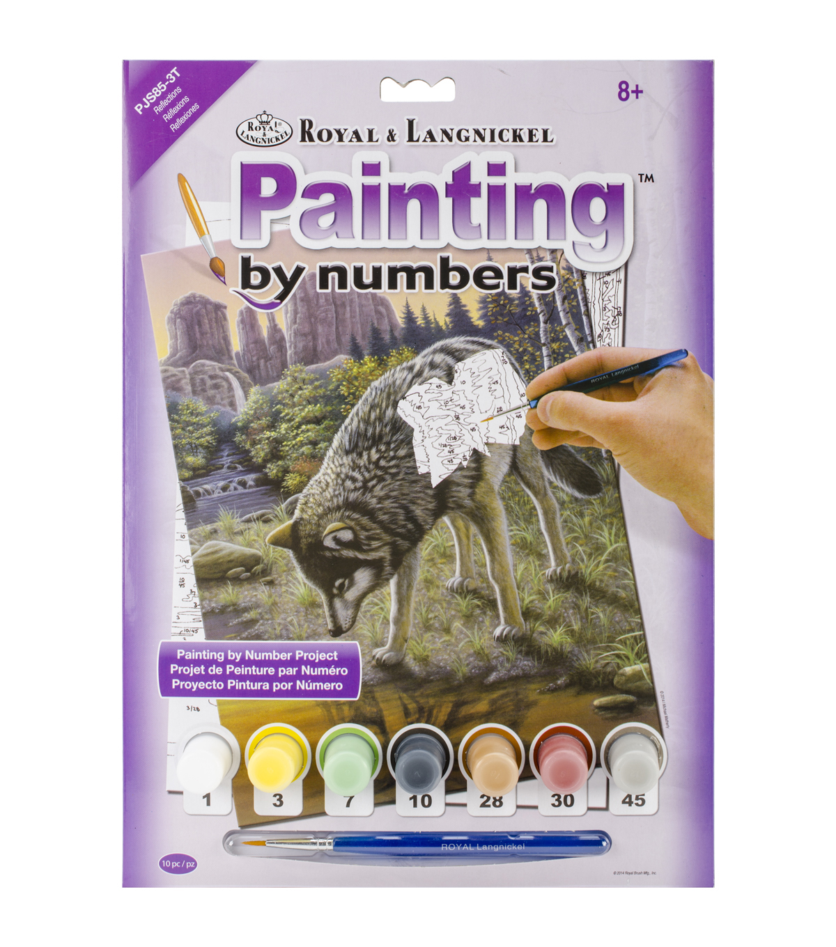 Royal Langnickel Reflections Junior Small Paint By Number Kit