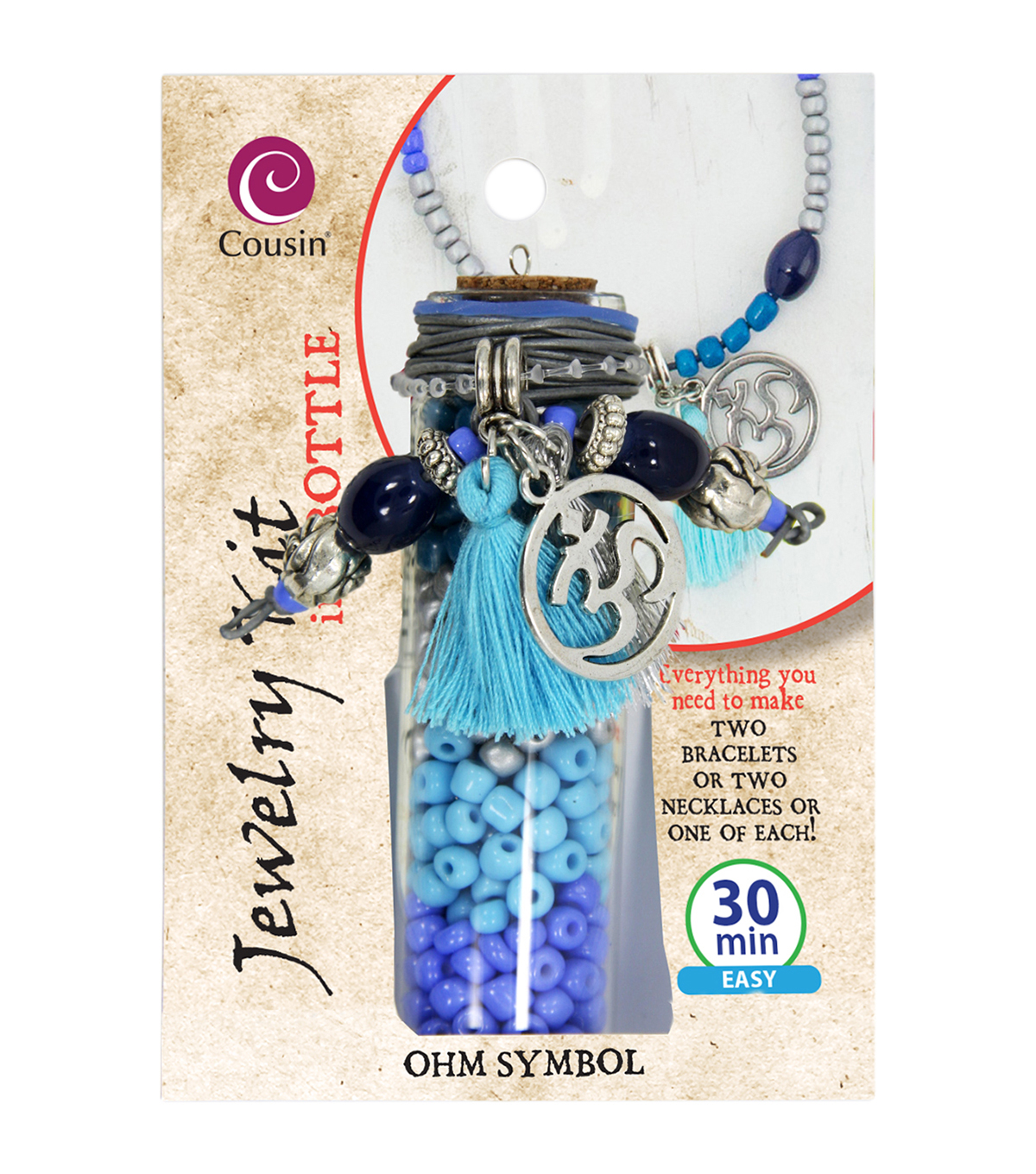 Jewelry Kit In A Bottle-Ohm Symbol