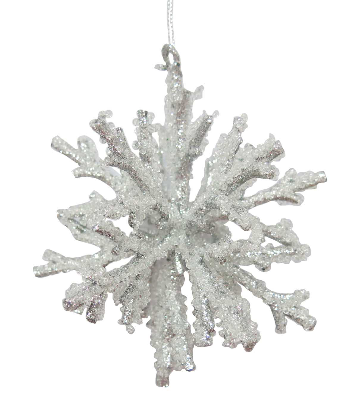 Maker's Holiday Christmas Arctic Frost 3D Snowflake Ornament