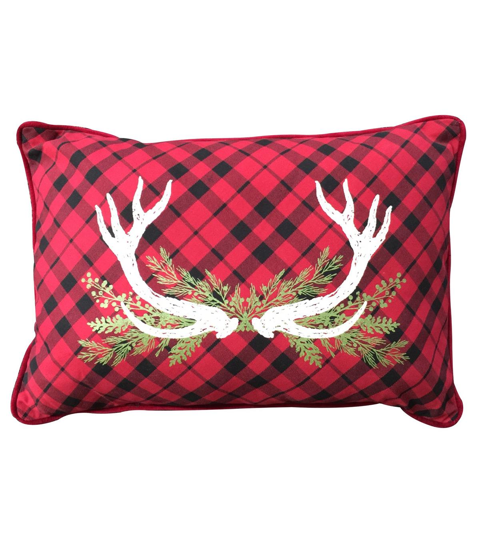 Maker\u0027s Holiday Pillow Buffalo Check