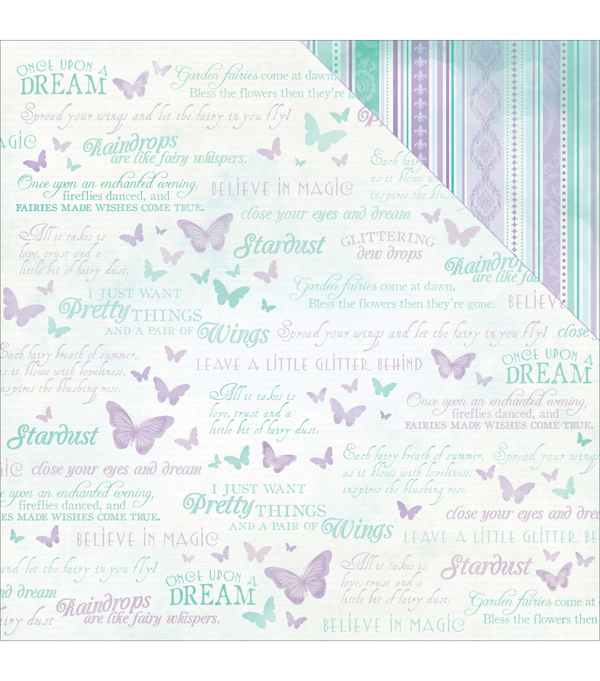 Kaisercraft Fairy Dust Double-Sided Cardstock-Flutterby