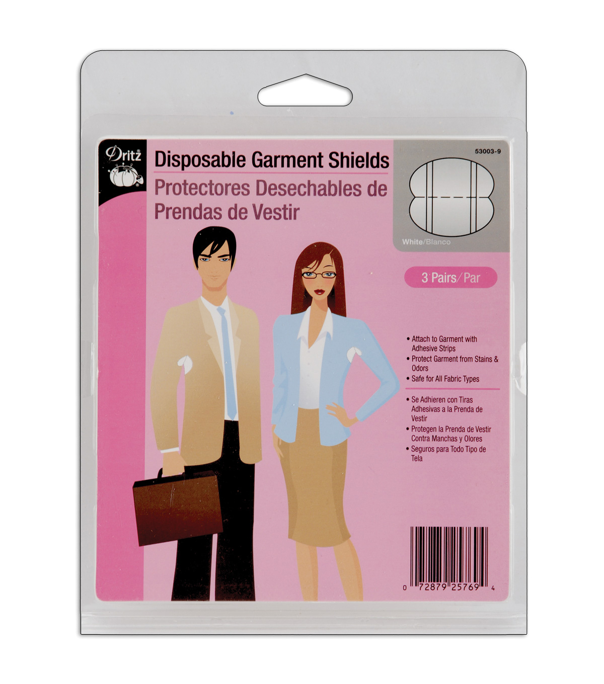 Dritz Disposable Garment Shields White 3pair