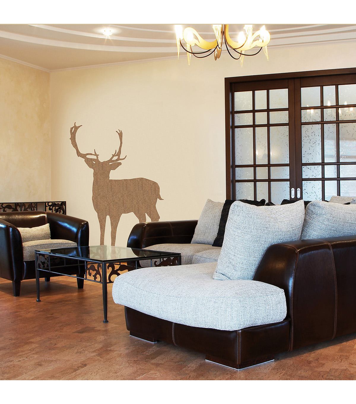 Home Decor Deer Cork Deluxe Wall Decal, 4 Piece Set