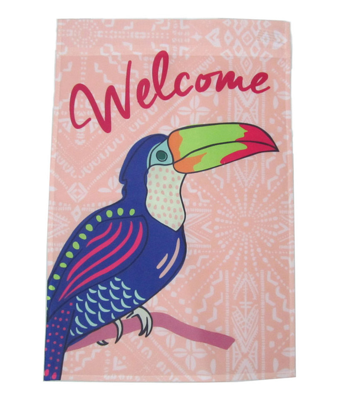 Summer Sol 12''x18'' Fabric Flag-Welcome Toucan