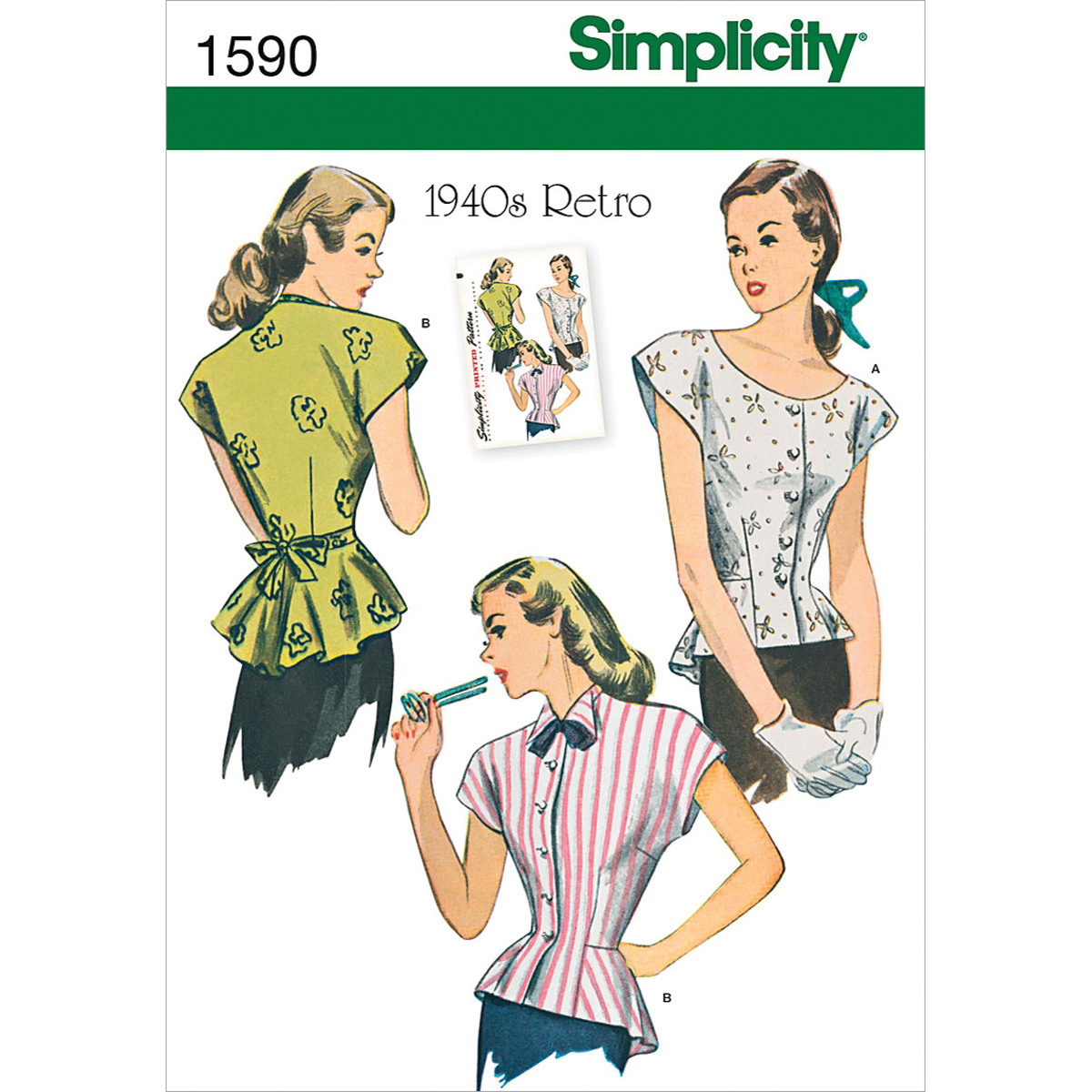 Simplicity Pattern 1590U5 16-18-20-2-Misses Tops Vests