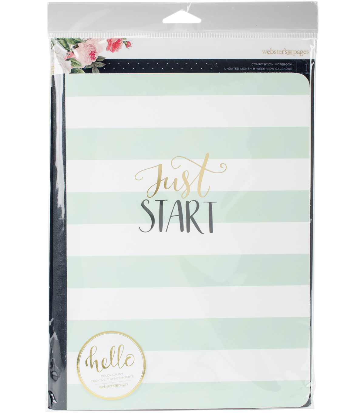 Composition Planner Notebook 7.5\u0022X9.7\u0022-Just Start Undated Calendar