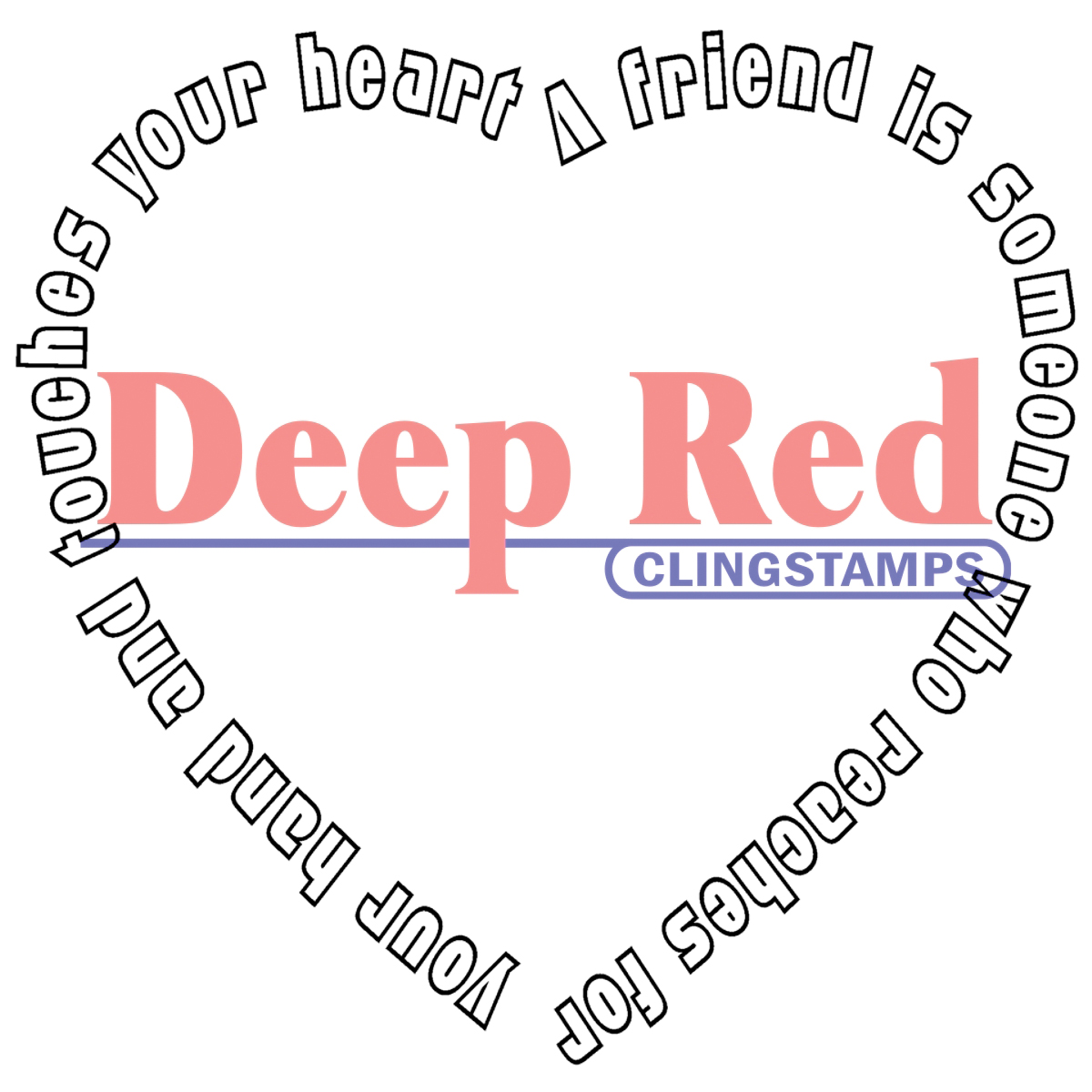Deep Red Cling Stamp Touched By A Friend