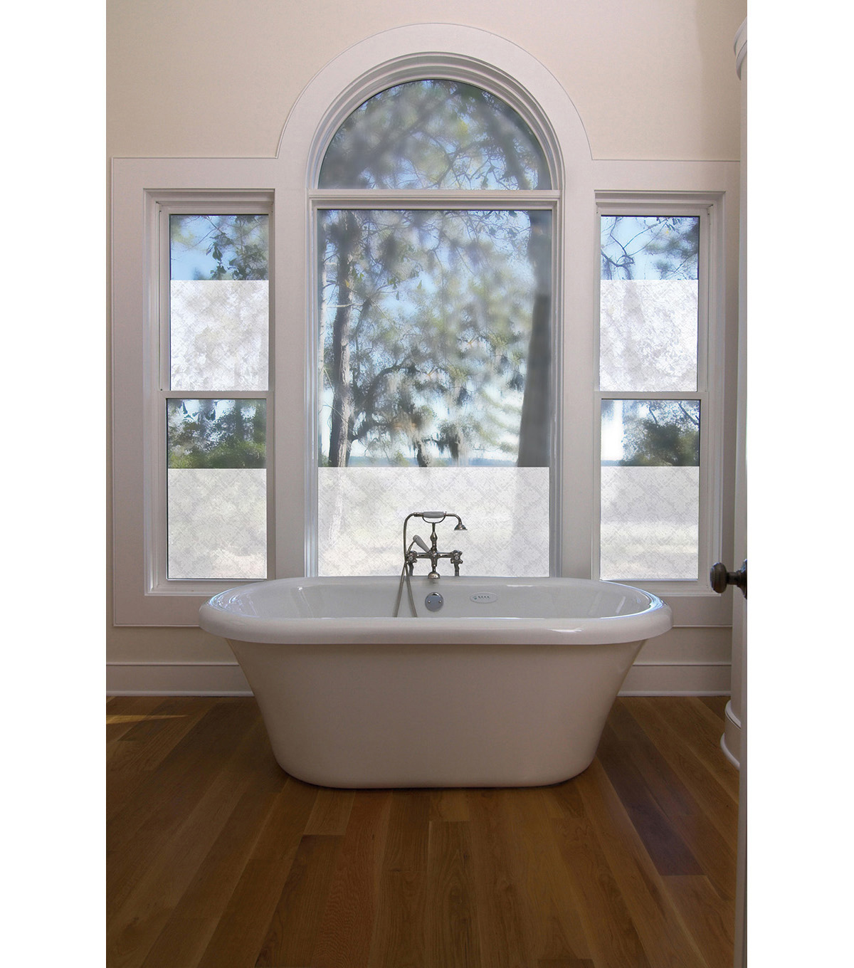 Premium Privacy Window Film-Medallion Window