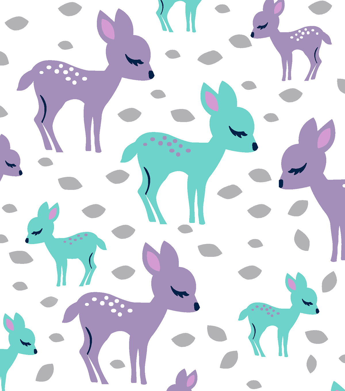 "Snuggle Flannel Fabric 42""-Baby Deer"