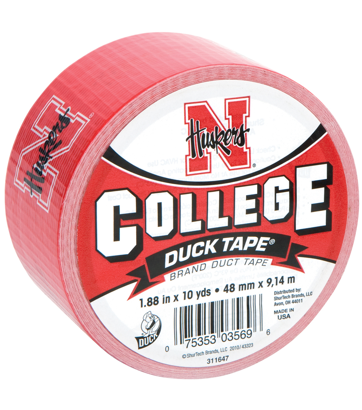 Duck Tape College Logo Nebraska