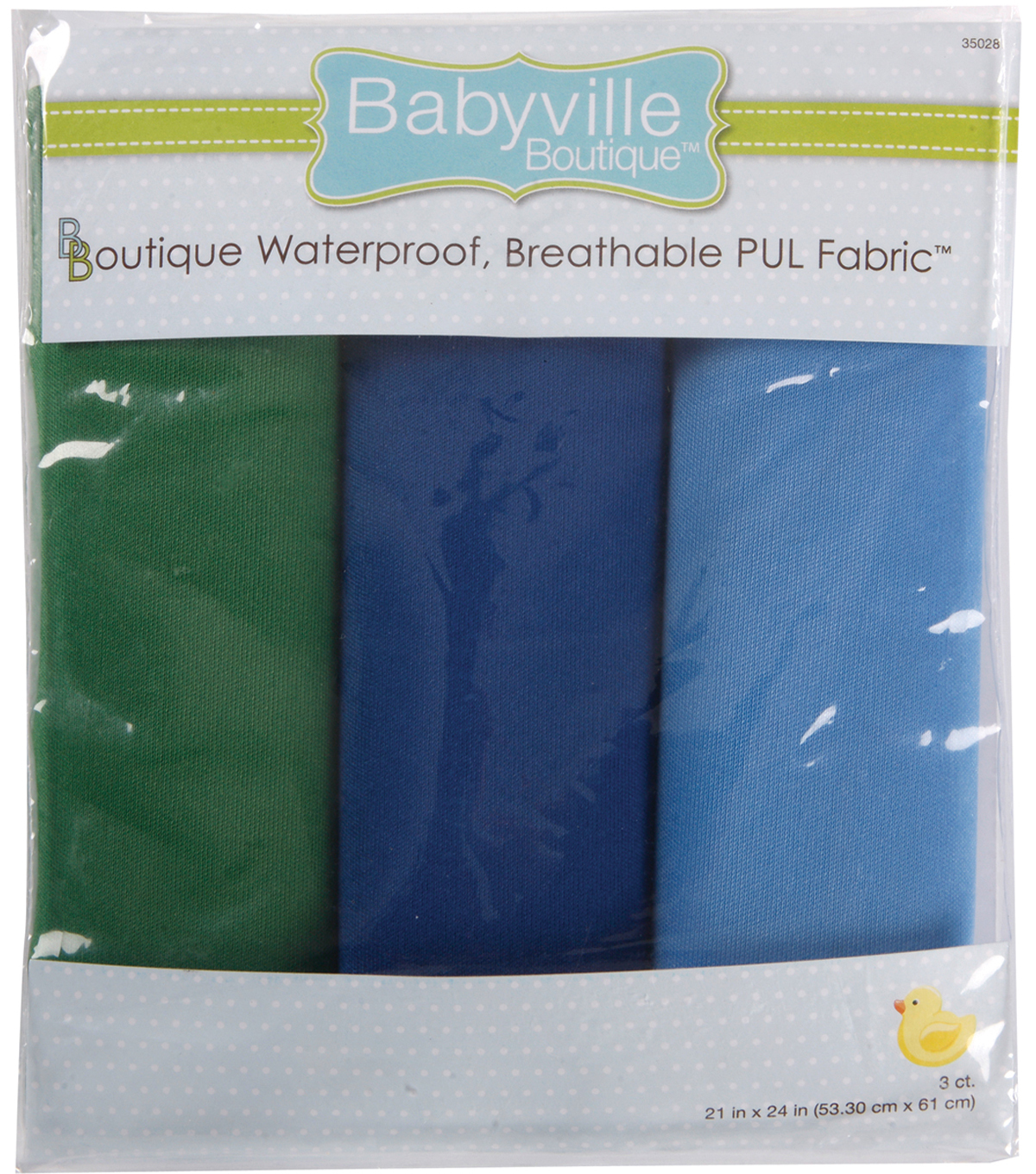 Babyville Boutique 21\u0022x24\u0022 Solid Waterproof Diaper Fabric Boy