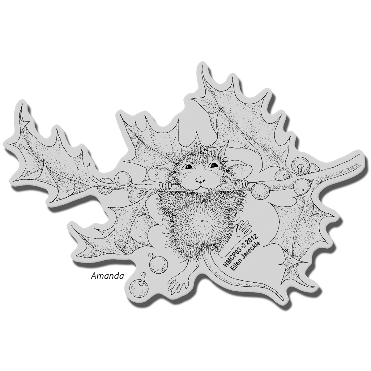 Stampendous House Mouse Cling Stamp Chin Up