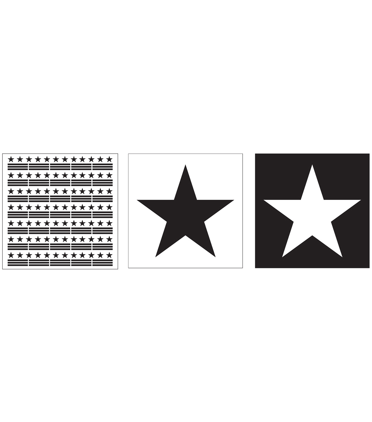 FolkArt® Layering Stencils 3pc-Star