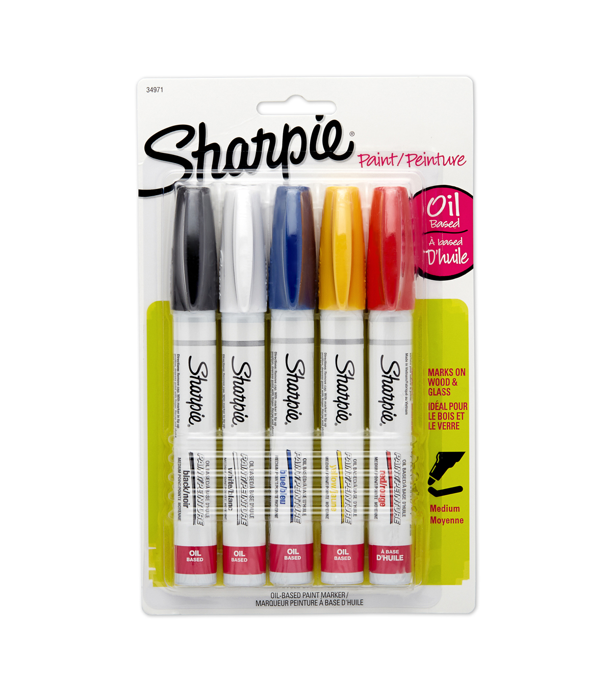 Sharpie® 5 pk Medium Point Oil Based Paint Markers--Assorted