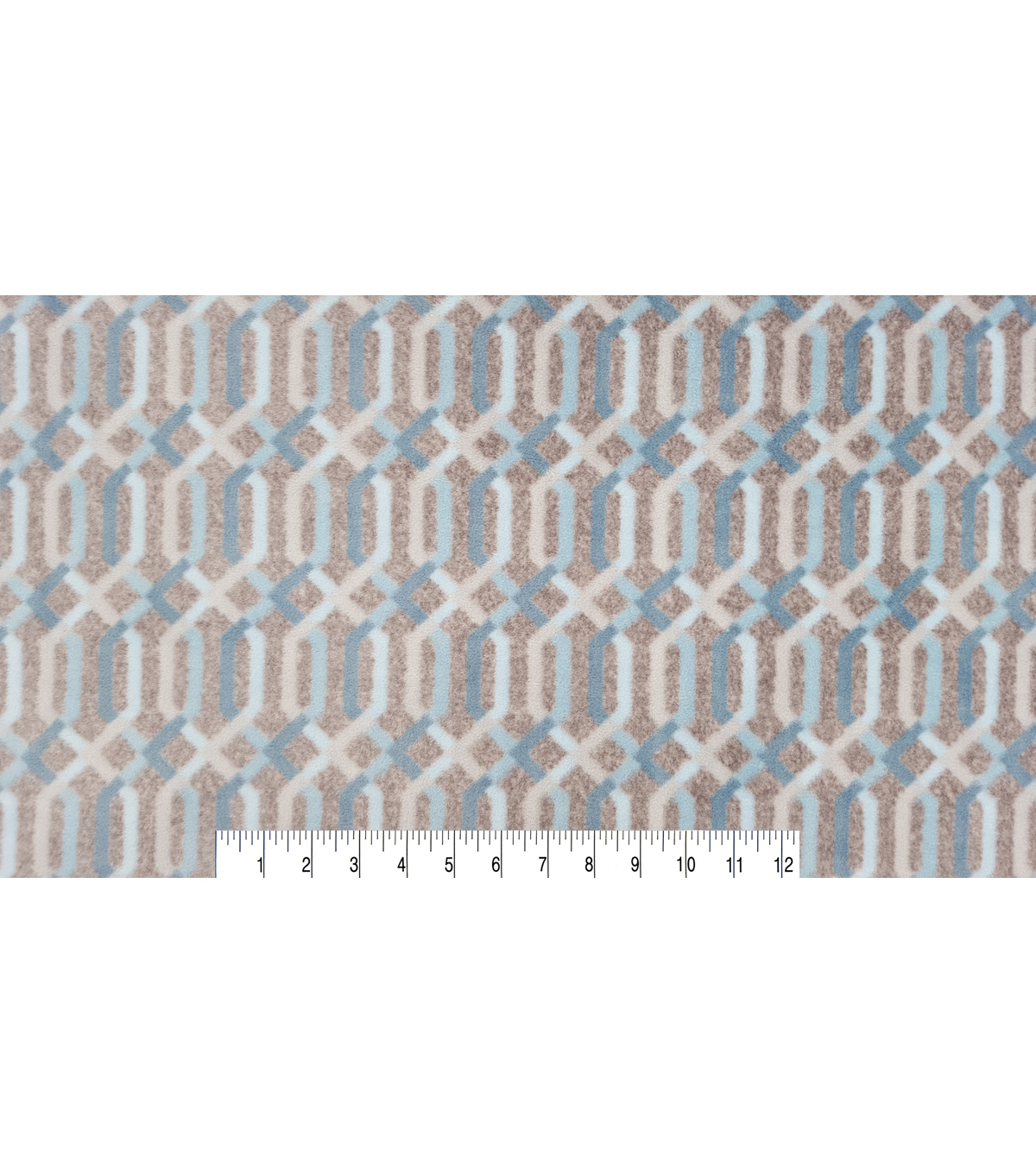 Luxe Fleece Fabric 59\u0022-Spa Lattice Grey Heather