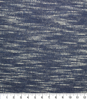 Apparel Knit Fabric-Space Dye Ponte Medieval Blue