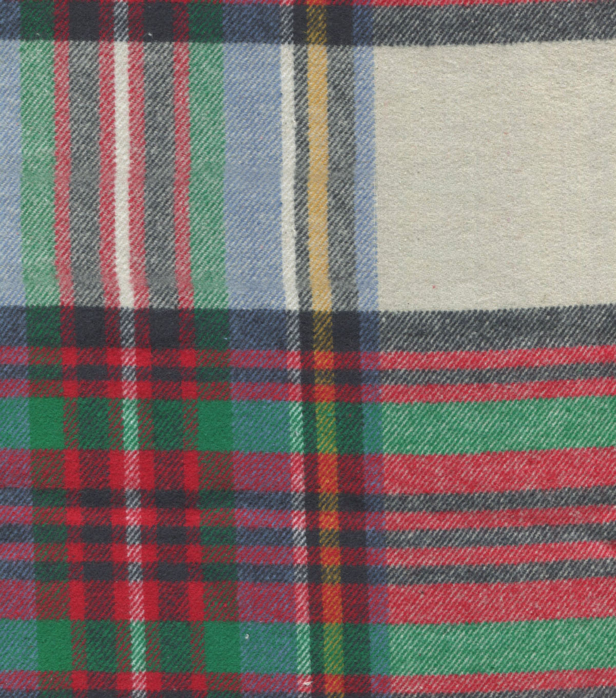 Plaiditudes Brushed Cotton Fabric 44\u0022-Green, Red & Black