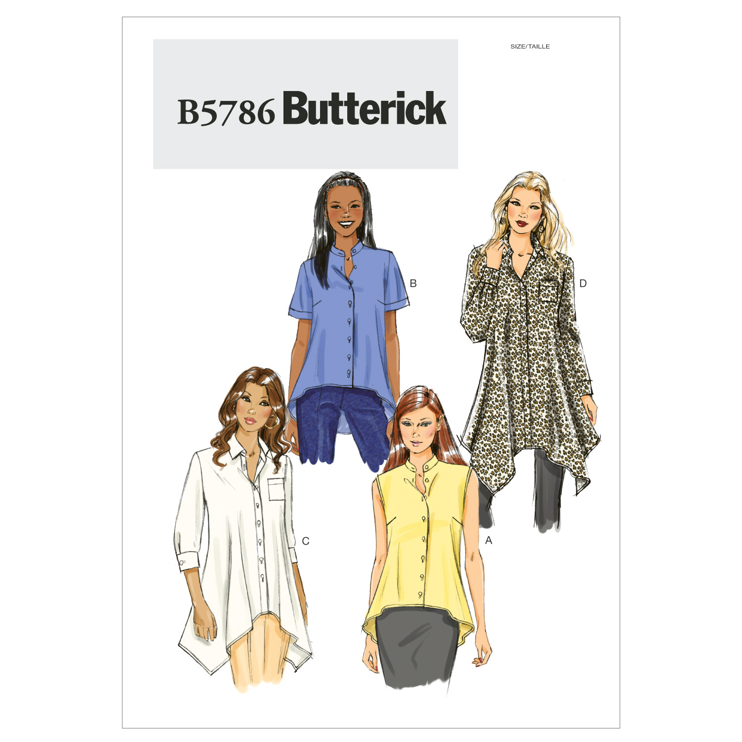Butterick Misses Top-B5786