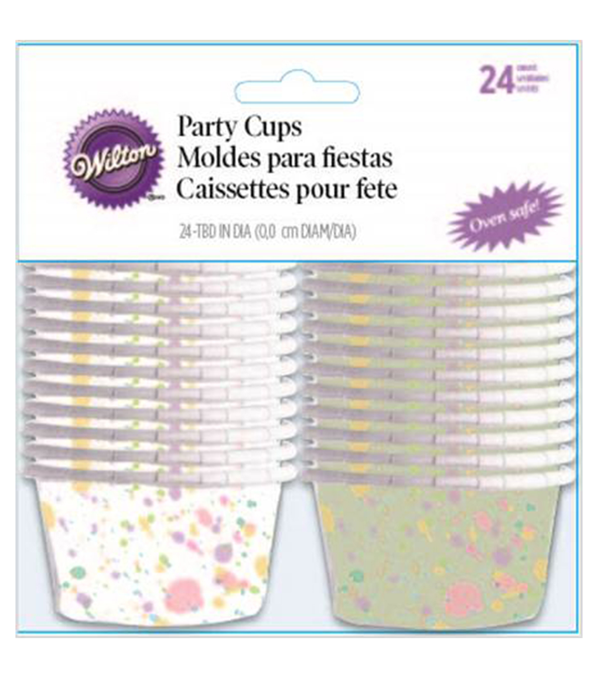 Wilton® Bakeable Nut & Party Cups-Sweet Splatter 3.25oz 24/Pkg