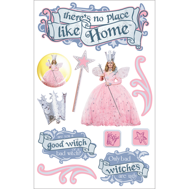 Paper House 3-D Sticker Oz-Glinda