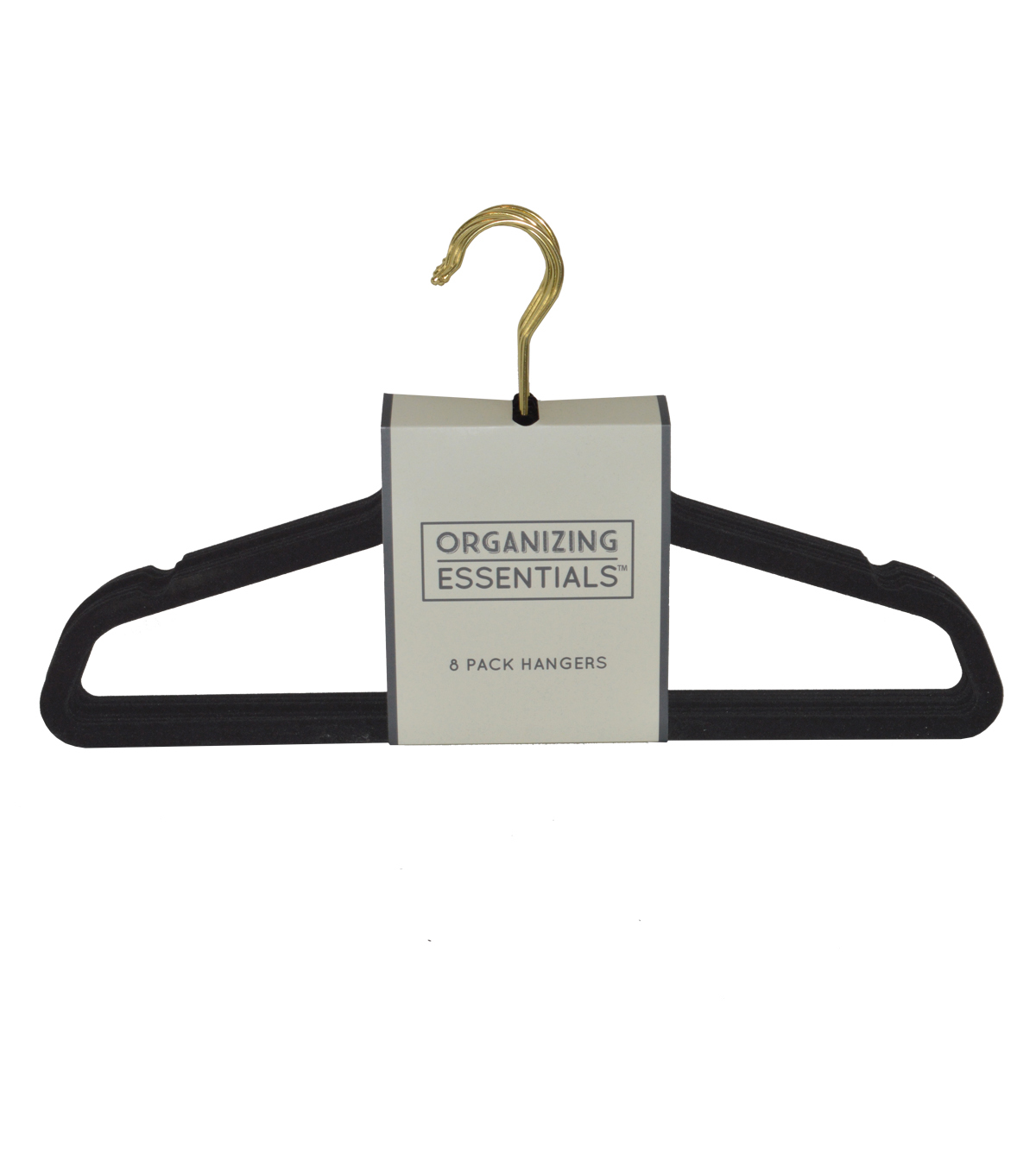 Organizing Essentials™ 8 Pack Hangers-Black & Gold
