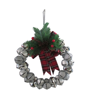 Maker\u0027s Holiday Jingle Bell Wreath-Silver