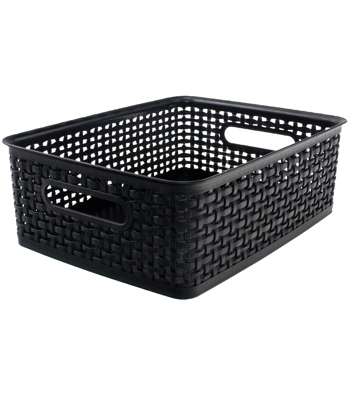 Advantus Weave Design Plastic Bin Medium