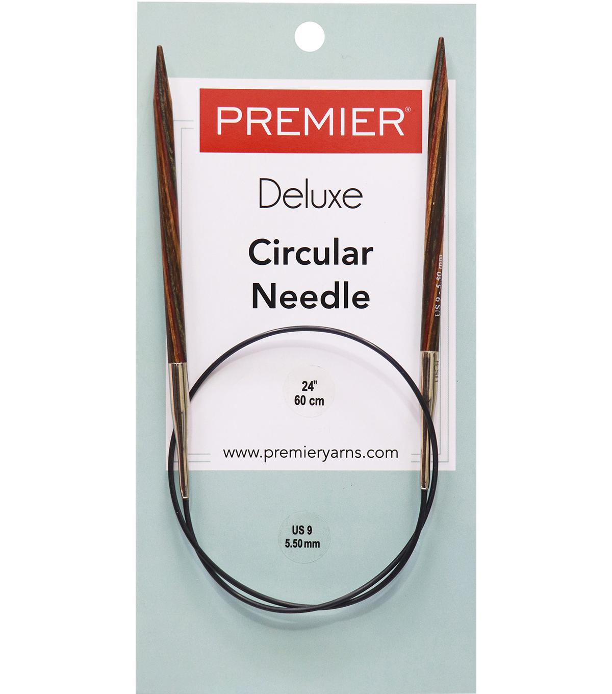 Deborah Norville Fixed Circular Needles 24\u0022 Size 9/5.5mm