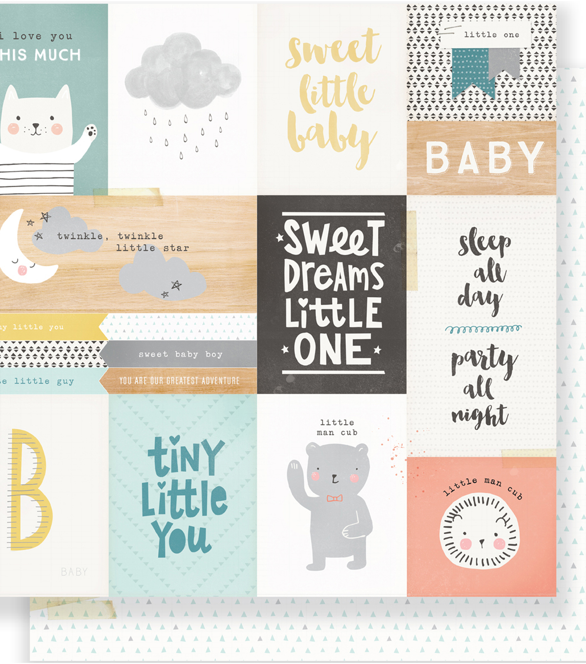 Little You Double-Sided Cardstock 12\u0022X12\u0022-Little One