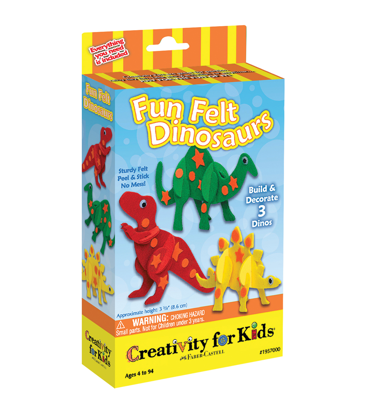 Creativity For Kids Fun Felt Dinosaurs Kit