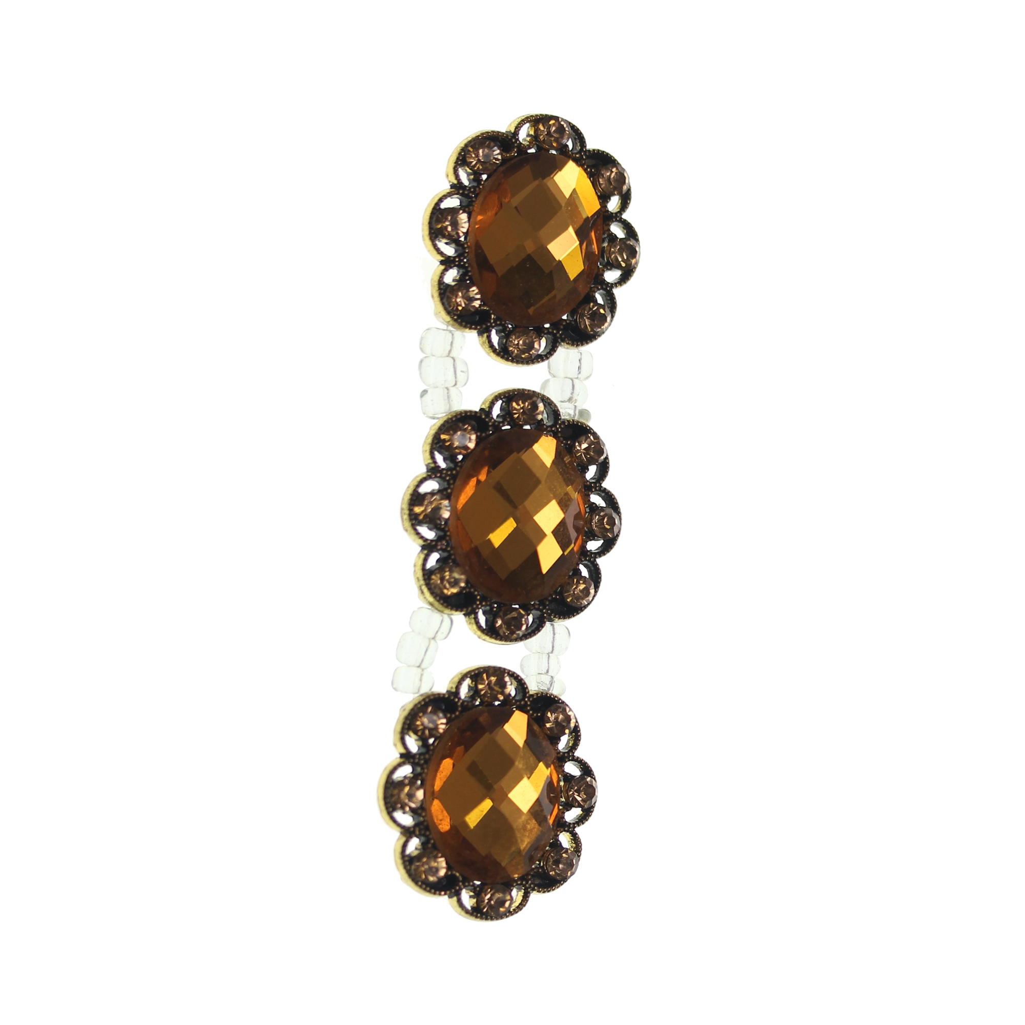 Amber Bronze Oval Slider
