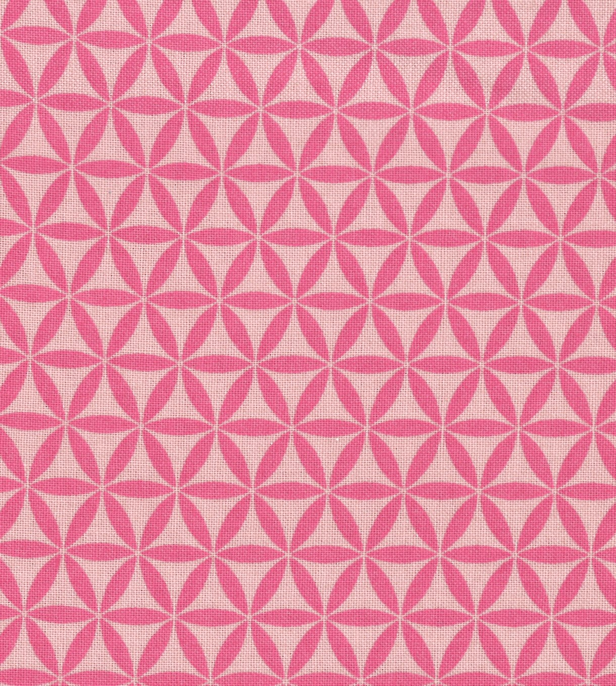 "Jules & Coco Quilt Cotton Fabric 44""-Geometric Pink"