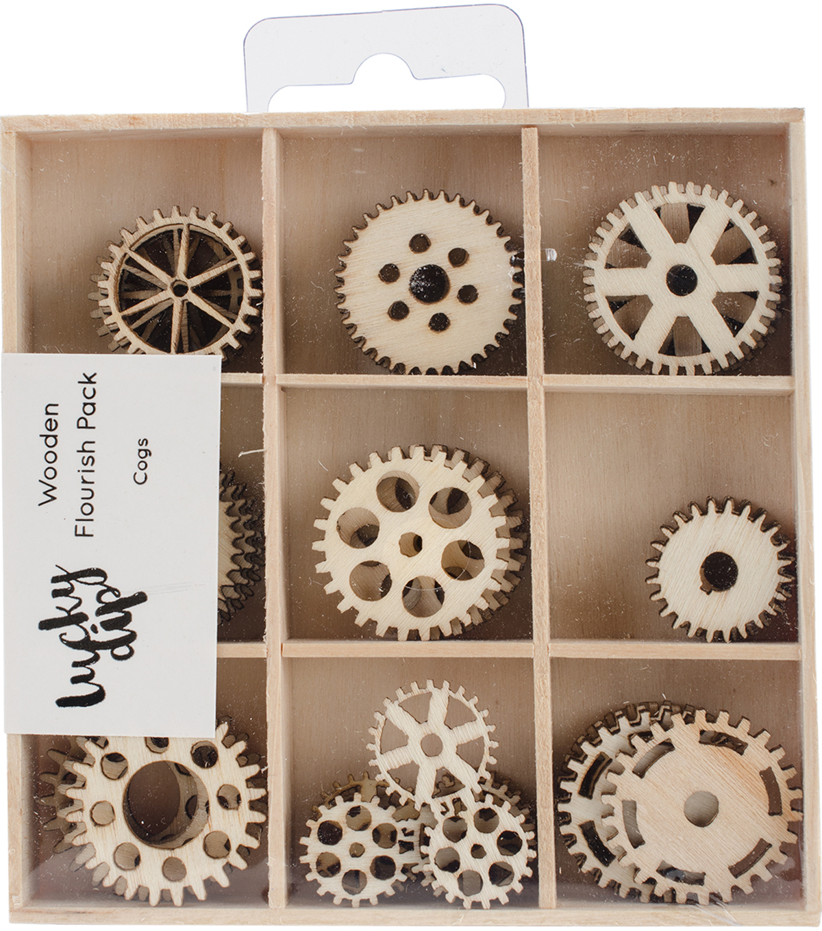 Themed Mini Wooden Flourishes-Cogs