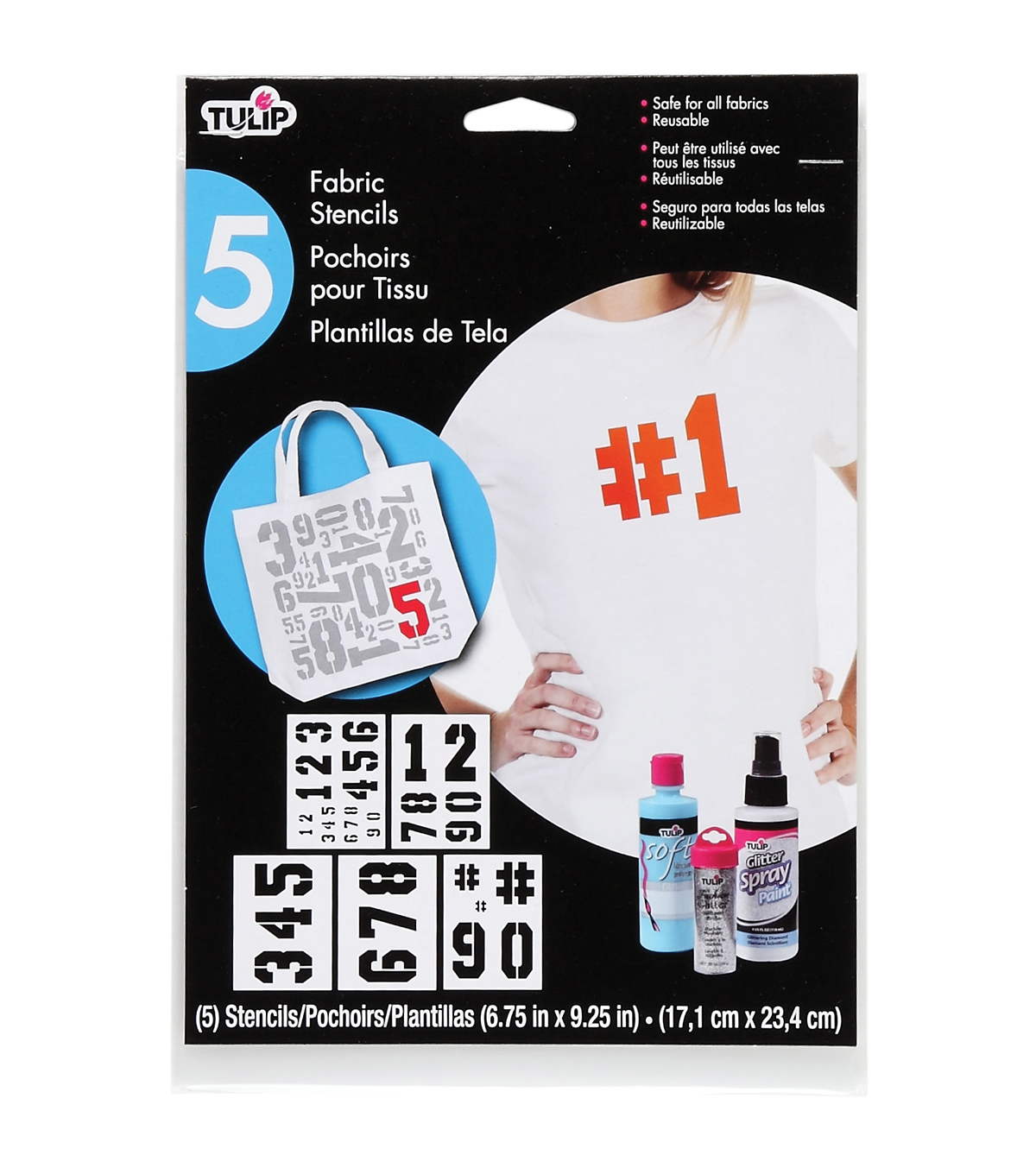 Tulip Basic Numbers Large Fabric Stencils