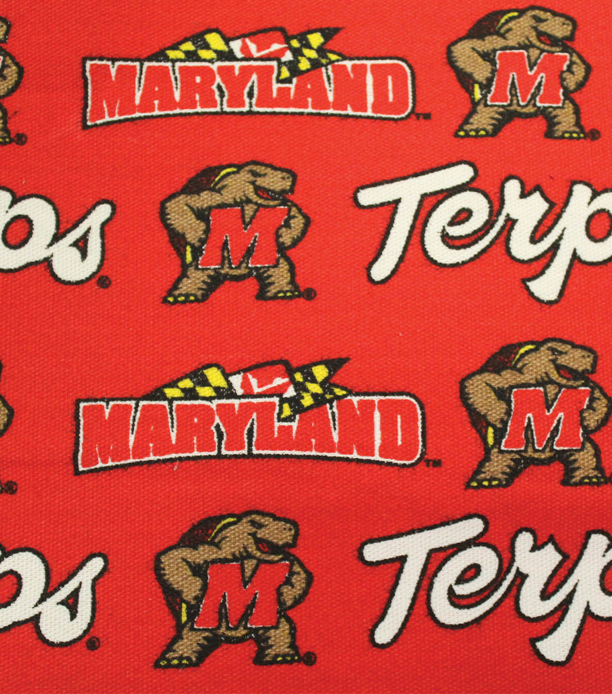 "University of Maryland Terrapins Canvas Fabric 58""-Logo"