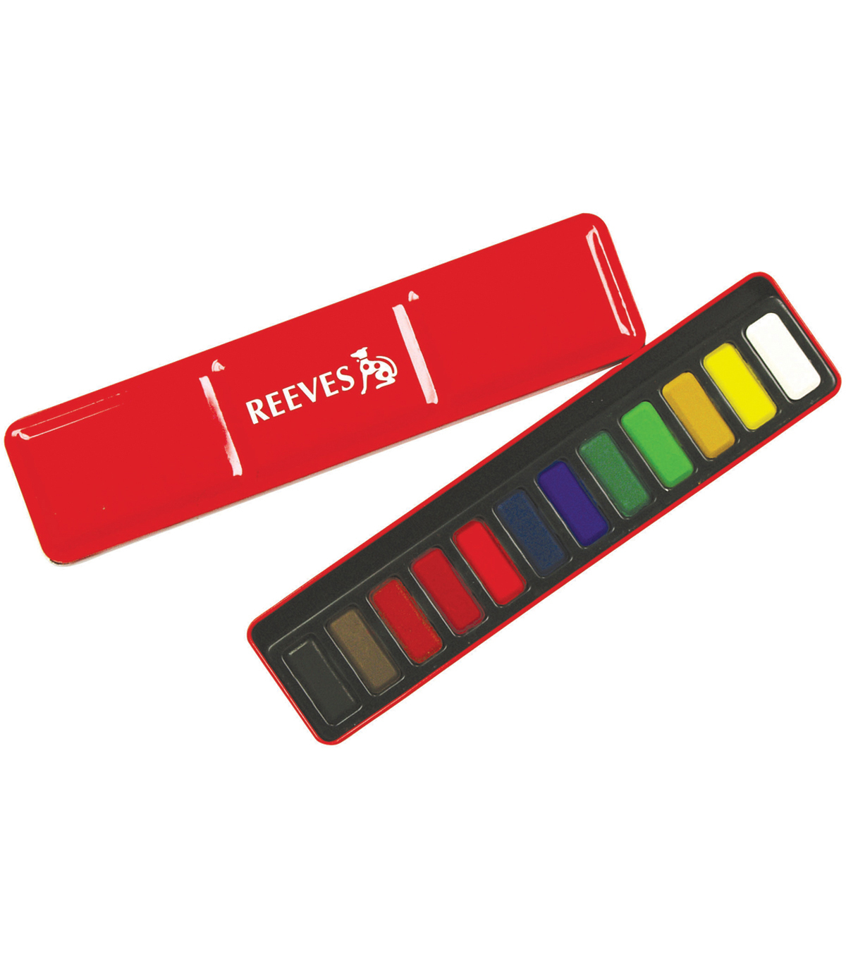 Reeves Watercolor Pans In Red Metal Tin 12/Set-