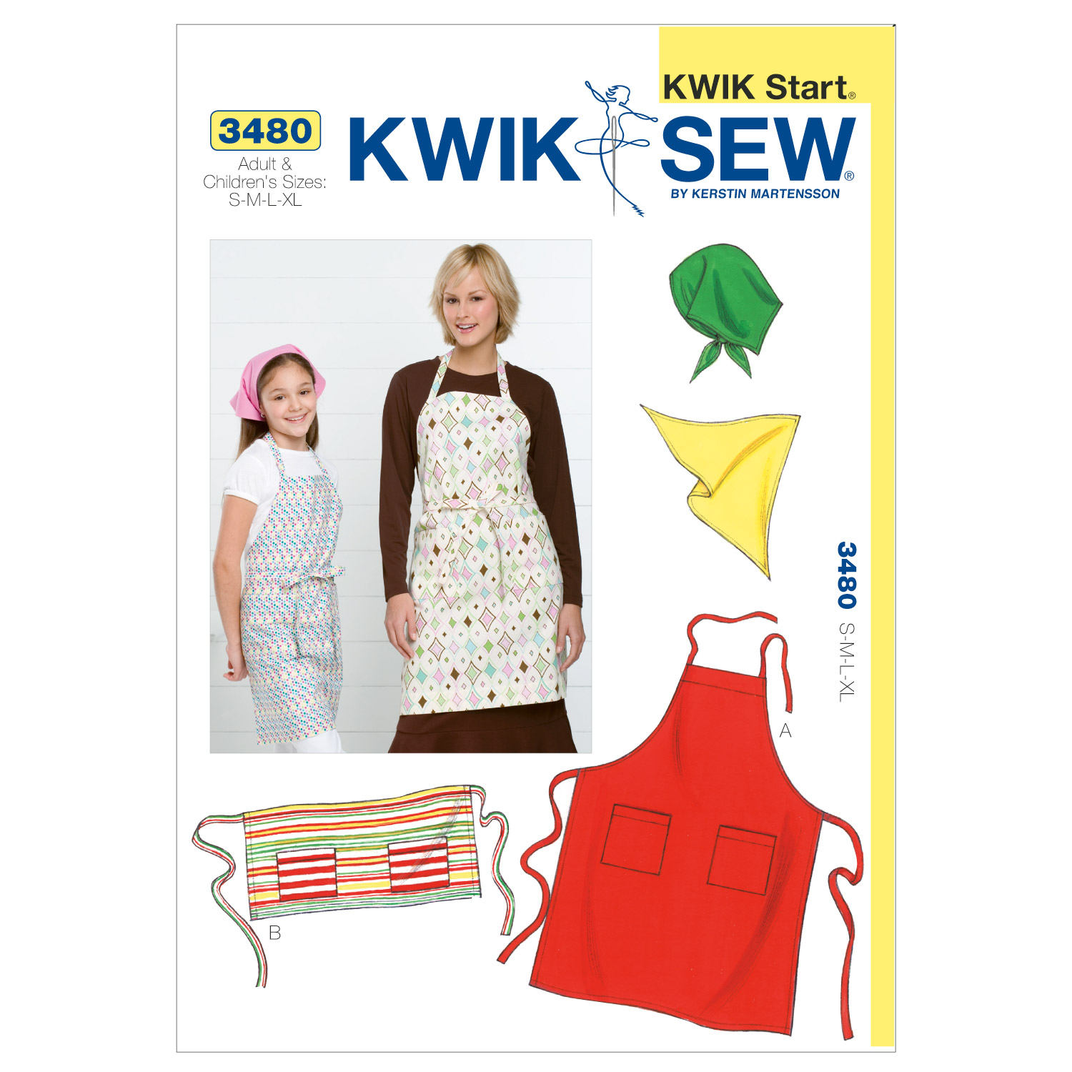 Kwik Sew Mother & Daughter Aprons-K3480