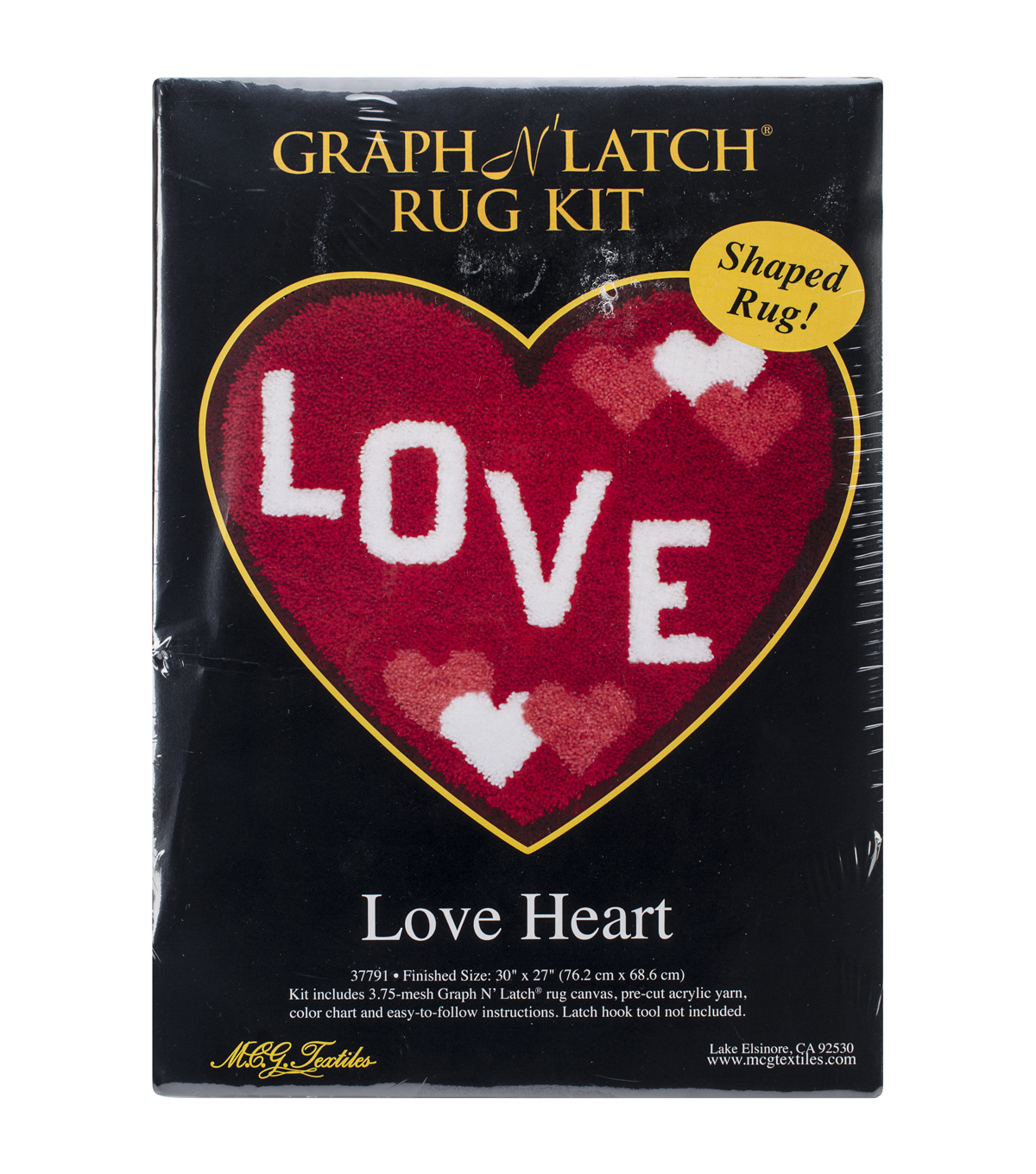 Latch Hook Kit 30\u0022X27\u0022 Shaped-Love Heart