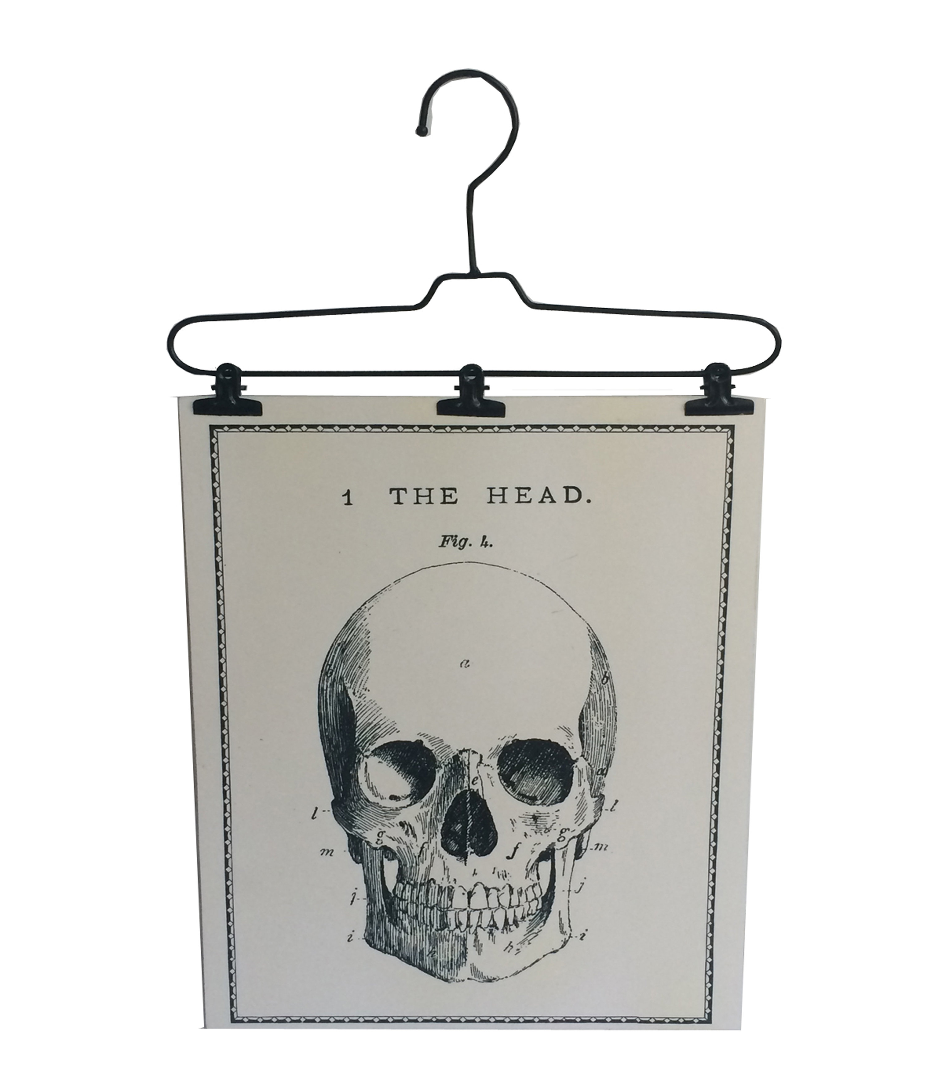 Maker's Halloween Wire Hanger Wall Decor-Skull