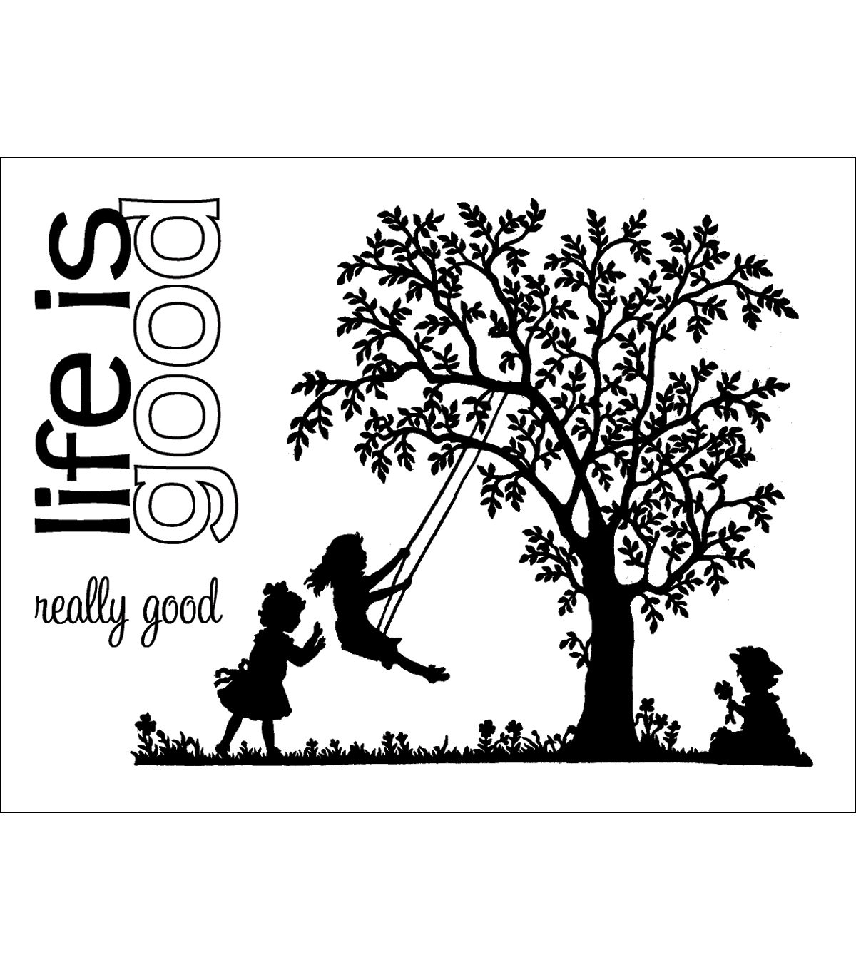 Technique Tuesday Clear Stamps 3\u0022X4\u0022-Life Is Good