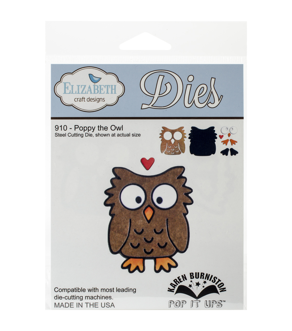 Elizabeth Craft Metal Die-Poppy The Owl